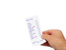 Hand und Rechnung stockfotos