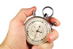 Hand und Timer Stockfotografie