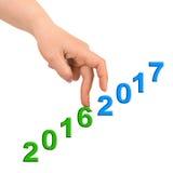 Hand und Treppe 2017 Lizenzfreie Stockbilder