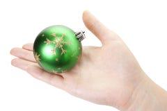 Hand- und Weihnachtsspielzeug Lizenzfreies Stockbild