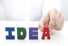 Hand und Wort Idee Lizenzfreie Stockbilder