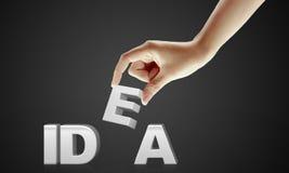 Hand und Wort Idee - Geschäftskonzept Lizenzfreies Stockbild