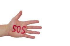 Hand und Wort PAS Lizenzfreie Stockfotos