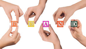 Hand-und Wortmarke Stockfotografie