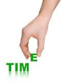 Hand-und Wortzeit Stockfoto