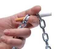 Hand und Zigaretten drei Lizenzfreies Stockbild