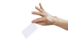 Hand undertecknar Arkivfoton