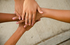 Hand for unity Stock Images