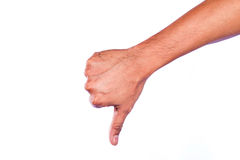 Hand unlike isolated on white background. concept. Stock Images