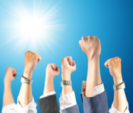 Hand up in the air Royalty Free Stock Photography