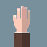 Hand up flat icon vector Royalty Free Stock Photos