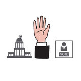 Hand up vote Royalty Free Stock Images