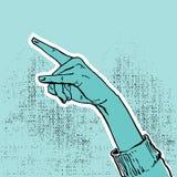 hand upp seger Arkivfoto