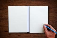 Hand use pencil Royalty Free Stock Photo