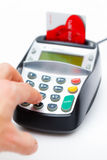Hand Using Chip and Pin Machine Royalty Free Stock Image