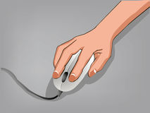 Hand using Computer Mouse version 1. A hand using Computer Mouse version 1 Stock Photos
