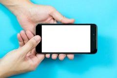 Hand using smart phone Royalty Free Stock Photo