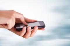 Hand Using Smart Phone Stock Image