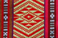 Hand vävde traditionella Lanna Royaltyfri Fotografi