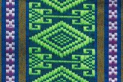 Hand vävde traditionella Lanna Arkivfoton