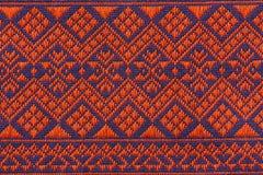 Hand vävde traditionella Lanna Royaltyfria Foton