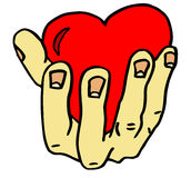 Hand with valentine heart Royalty Free Stock Images