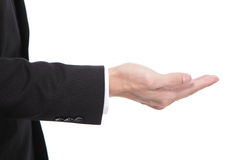 Hand van Bedrijfsmensen dichte omhooggaand Royalty-vrije Stock Foto's