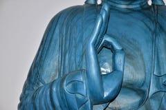 Hand van blauwe Boedha Stock Fotografie