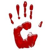 Hand van bloed Stock Foto's