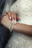 Hand van bruid Royalty-vrije Stock Foto's