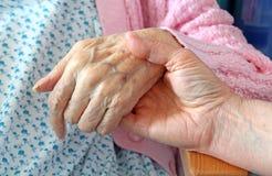 Hand van Comfort Stock Foto's