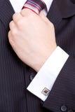 Hand van de bedrijfsmens Stock Foto's