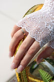 Hand van de bruid Stock Afbeelding