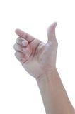 Hand van de mens Stock Foto's