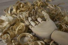 Hand van een houten marionet Royalty-vrije Stock Foto