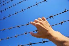 Hand van gevangenis Stock Fotografie
