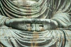 Hand van Grote Boedha Daibutsu in Tokyo, Japan Stock Afbeelding