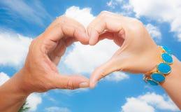 Hand van hart Stock Afbeelding