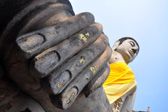 Hand van het beeld van Boedha Stock Afbeeldingen