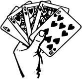 Hand van Kaarten royalty-vrije illustratie