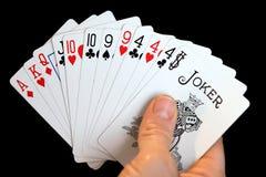 Hand van Kaarten Stock Afbeelding
