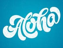 Hand van letters voorziende illustratie aloha Royalty-vrije Stock Fotografie