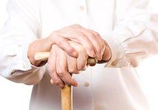 Hand van oude vrouw Royalty-vrije Stock Fotografie
