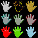 Hand variety Royalty Free Stock Photo