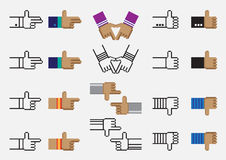 Hand vector pixel Stock Photo