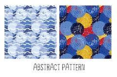 Hand-verdrink naadloos patroon van cirkels Stock Fotografie