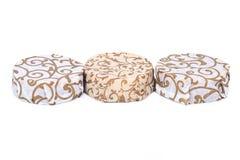 Hand verpakte zeepbars royalty-vrije stock fotografie