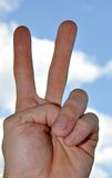 Hand victory Stock Image