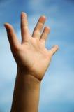Hand vijf vingers Stock Afbeeldingen