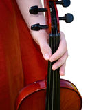 Hand and violin Stock Image